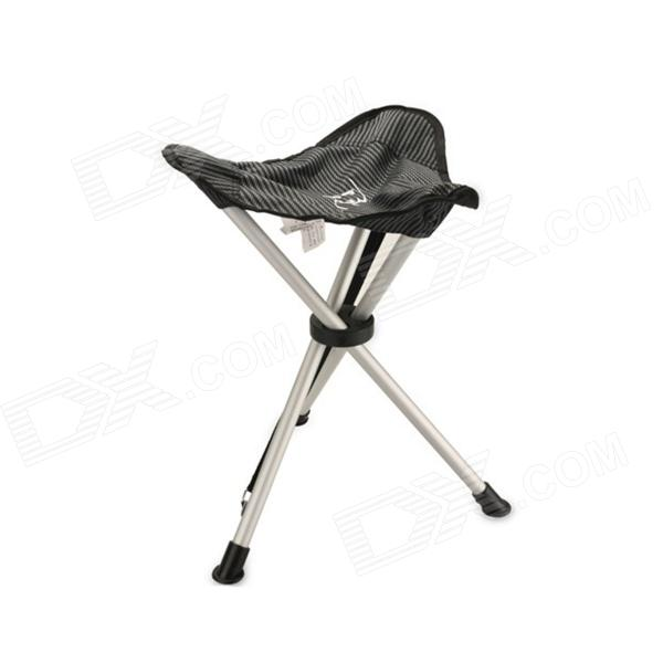 fishing chair ebay royal dining chairs portable outdoor folding triangular stool for camping silver black