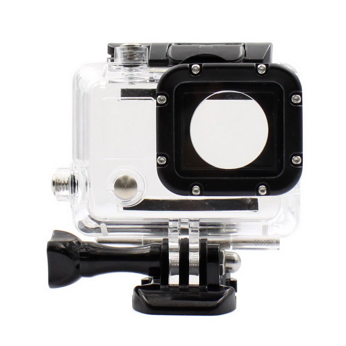 PANNOVO G-833 Professional Waterproof Camera Housing Shell Case for GoPro 3+ / 4 - Transparent Waterproof Case for Gopro, Calas Replacement Waterproof Protective Dive Housing Case for GoPro Hero 4 3+ 3 Camera - Underwater 40 Meters Waterproof Case for Gopro, Calas Replacement Waterproof Protective Dive Housing Case for GoPro Hero 4 3+ 3 Camera – Underwater 40 Meters sku 380696 1