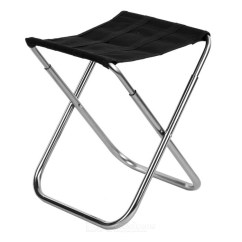 Fishing Chairs Chair Covers And Sashes For Rent Ultra Light Aluminum Alloy Outdoor Folding Stool Black