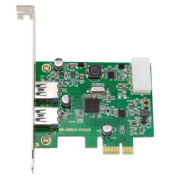 2 Ports USB 3.0 to PCI-Express Self-powered Controller Card GOTD USB PCI-E Express 1x To 16x Extender Riser Card Adapter SATA Power Cable 24CM GOTD USB PCI-E Express 1x To 16x Extender Riser Card Adapter SATA Power Cable 24CM sku 422309 1