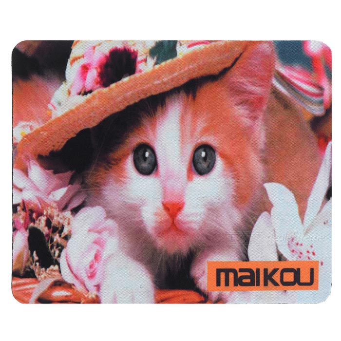 MAIKOU 21.8*18*0.2cm Lovely Cat Pattern Anti-Slip Non-Slip Mouse Pad Mat - White + Orange Niceroom Custom Gaming Mouse Pad Btc Blank Bitcoin Niceroom Custom Gaming Mouse Pad Btc Blank Bitcoin sku 424319 1