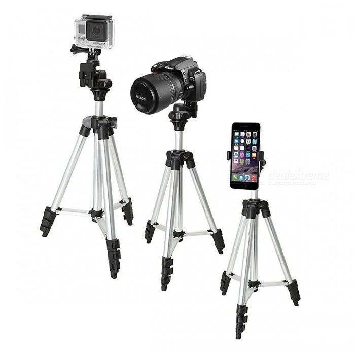 WT-3110A Adjustable Digital Camera Cellphone Tripod Stand