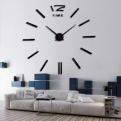 Big Wall Clocks For Living Room How To Decorate My With A Sectional 3d Real Clock Rushed Mirror Sticker Diy Home Decor Fashion Watches Arrival Quartz 37inch White Worldwide Free