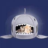 Shark Dog Bed Pet Cat Bed Shark Cats Beds House For Large ...