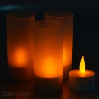 Buy LED Tea-Light Rechargeable Candle Lamp with Glasses ...
