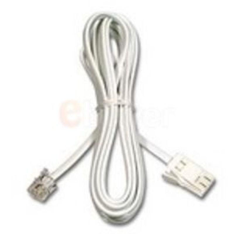 Belkin Modem Cable RJ11 (Male) to UK BT (Male) Cable 2m