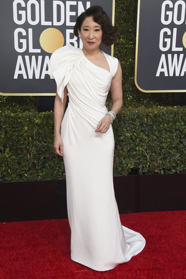 Sandra Golden Globes 2019 Red Carpet