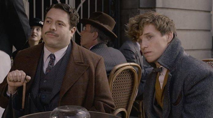 Dan Fogler and Eddie Redmayne in 'Fantastic beasts: The crimes of Grindelwald'