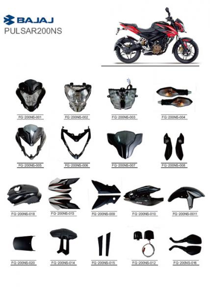 PULSAR200NS BAJAJ Motorcycle Spare Parts ABS Plastic PC