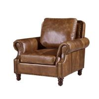 Vintage Brown High Back Leather Armchair , Tall Back ...