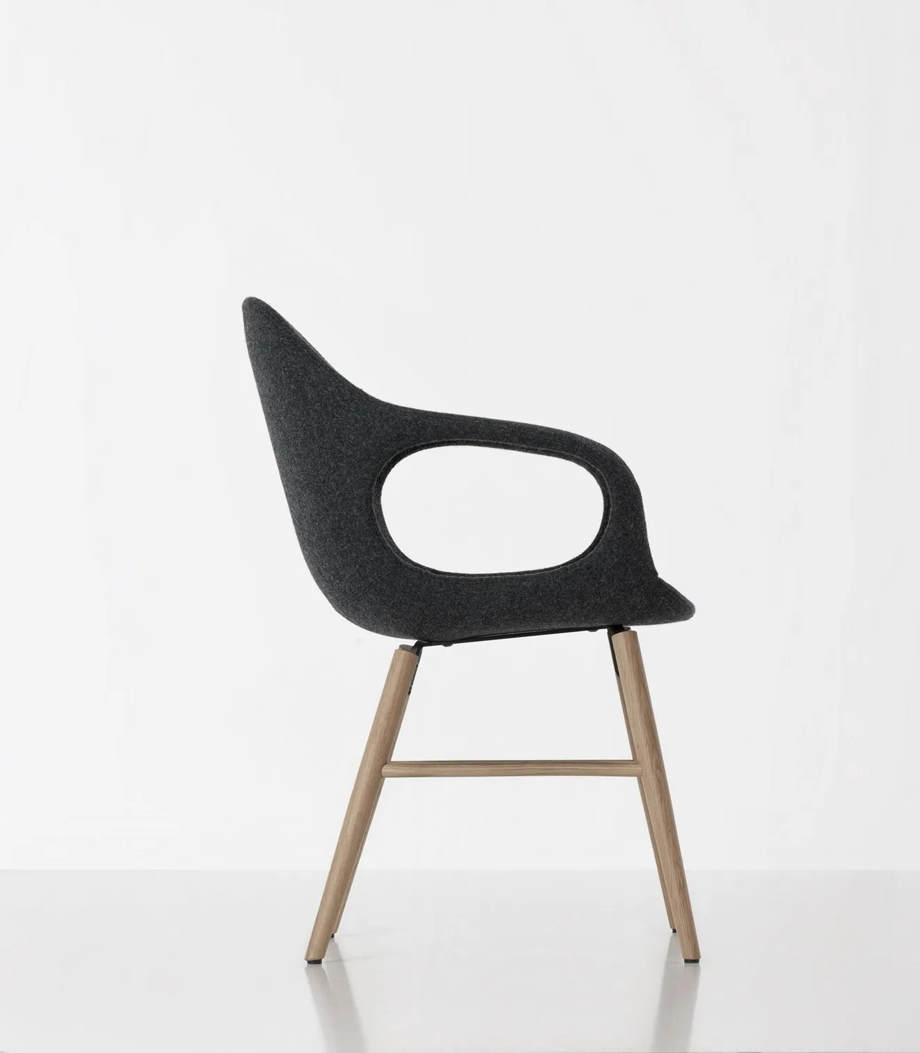 chair experimental design modern leather arm playful and by kristalia