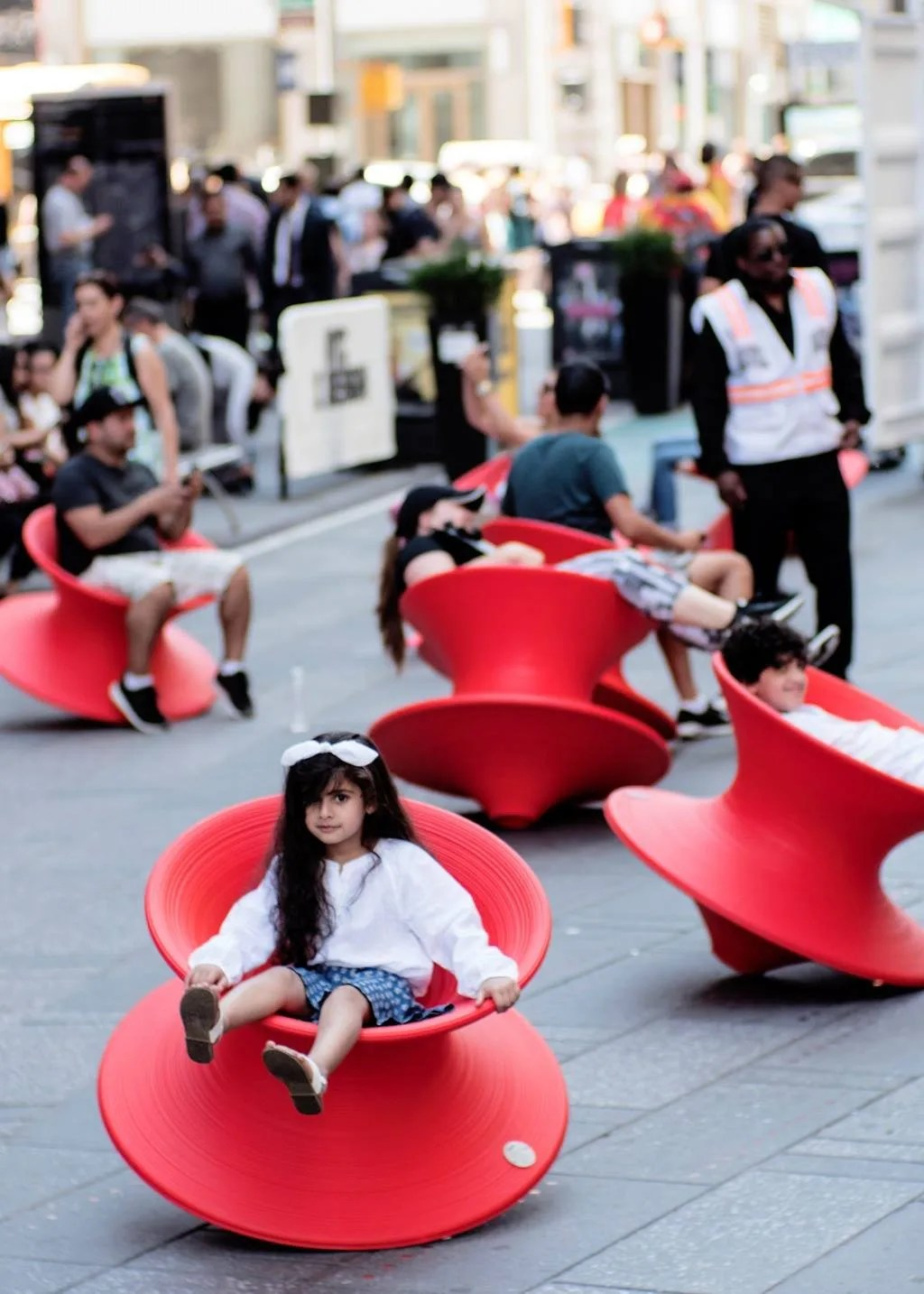 spinning top chair south africa designer covers to go instagram magis lands in times square