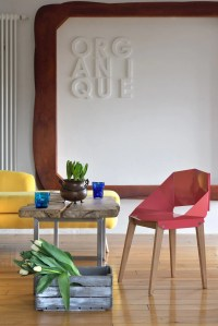 GIE EL presents a chair made from bent steel and and ...