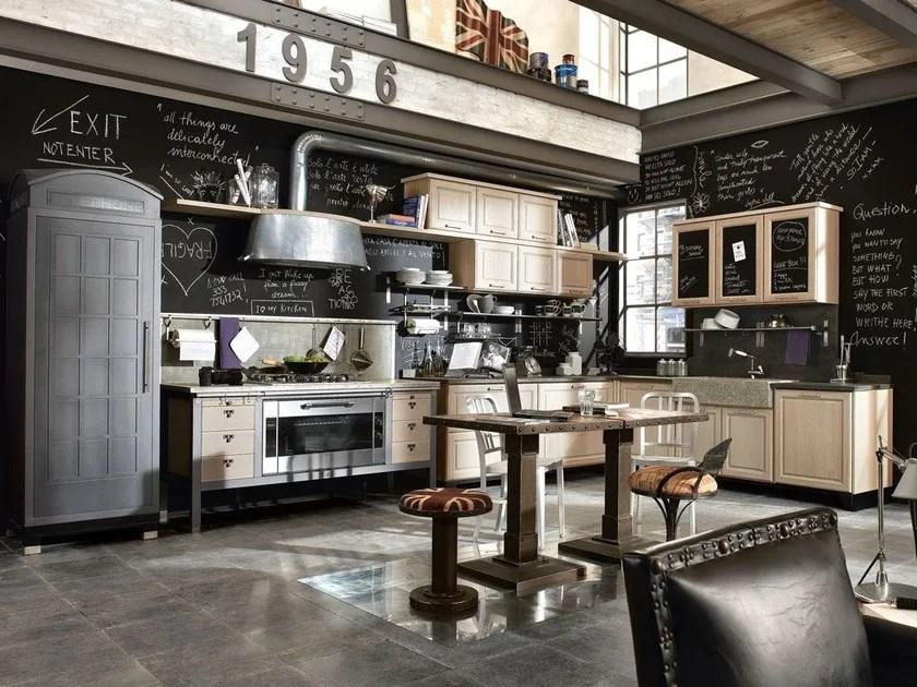 Cucina componibile in acciaio inox e legno 1956
