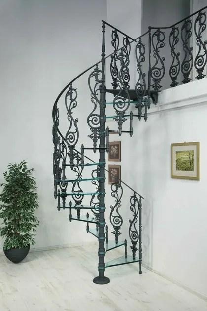 2072 Glass Spiral Staircase By Modus   Cast Aluminium Spiral Staircase   Wine Bar   Metal   British Spirals   Wrought Iron   Iron Shop