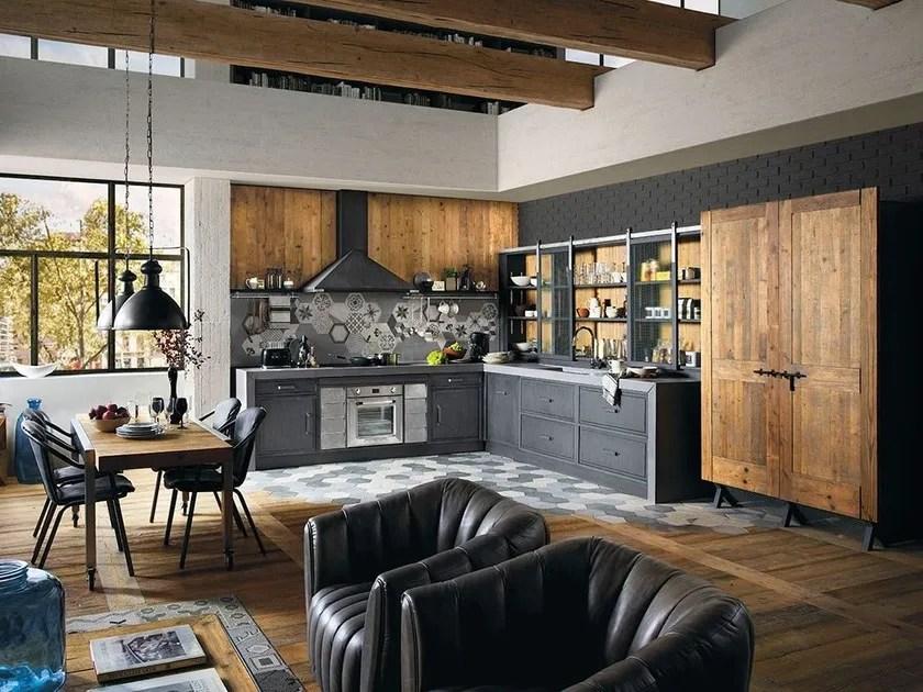 Cucina componibile in legno massello BRERA 76  Marchi Cucine