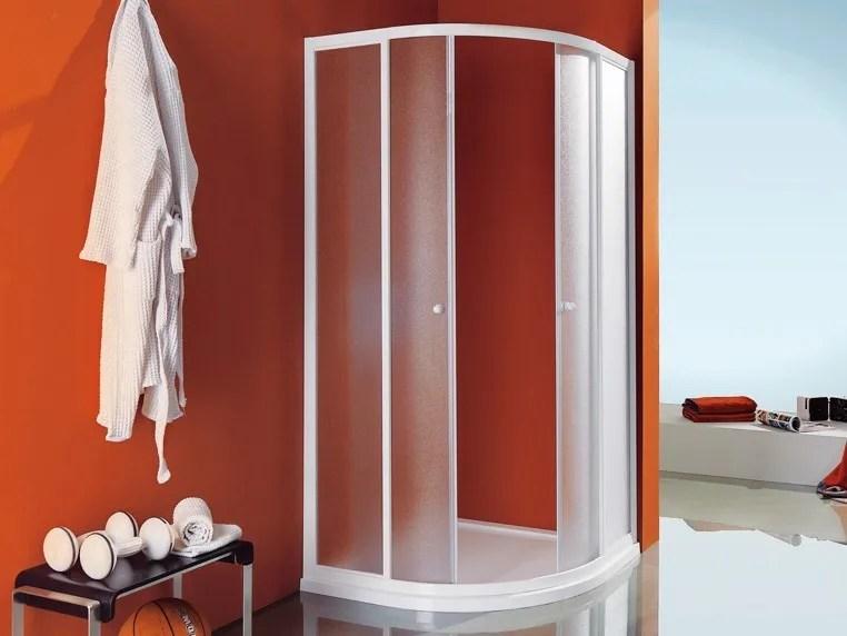 Box doccia angolare semicircolare con piatto CIAO  Box doccia semicircolare  Samo