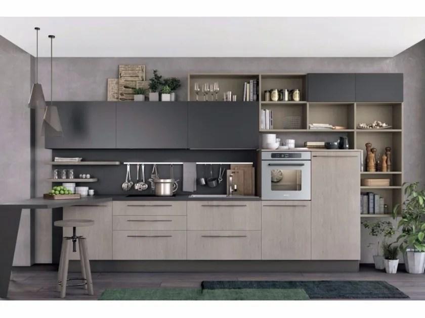 Cucina componibile lineare CLOVER 03  Cucine Lube