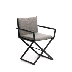 Black Metal Folding Garden Chairs Christmas Chair Covers Dunnes Stores Domino Collection By Talenti Design Marco Acerbis With Armrests