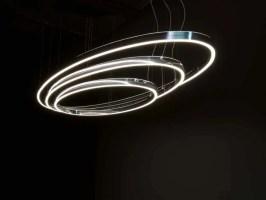 LED Pendelleuchte aus Aluminium DOPPIO ELLIPSE By Sattler