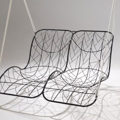 Steel Net Chair Bar Chairs Amazon Double Recliner Garden Hanging By Studio Stirling Design 2 Seater Powder Coated