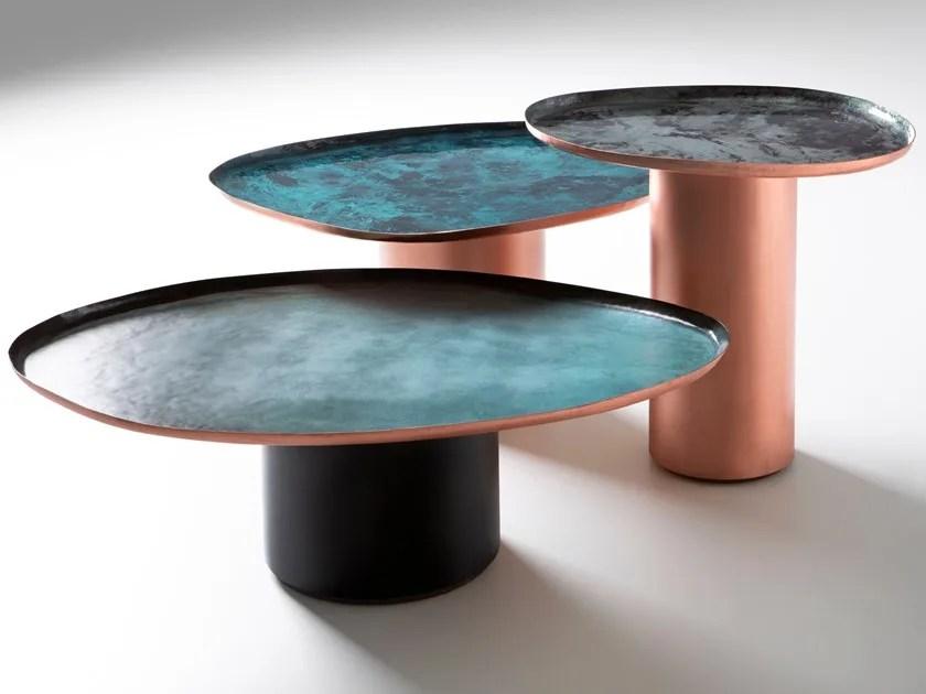 metal coffee table drops by de castelli