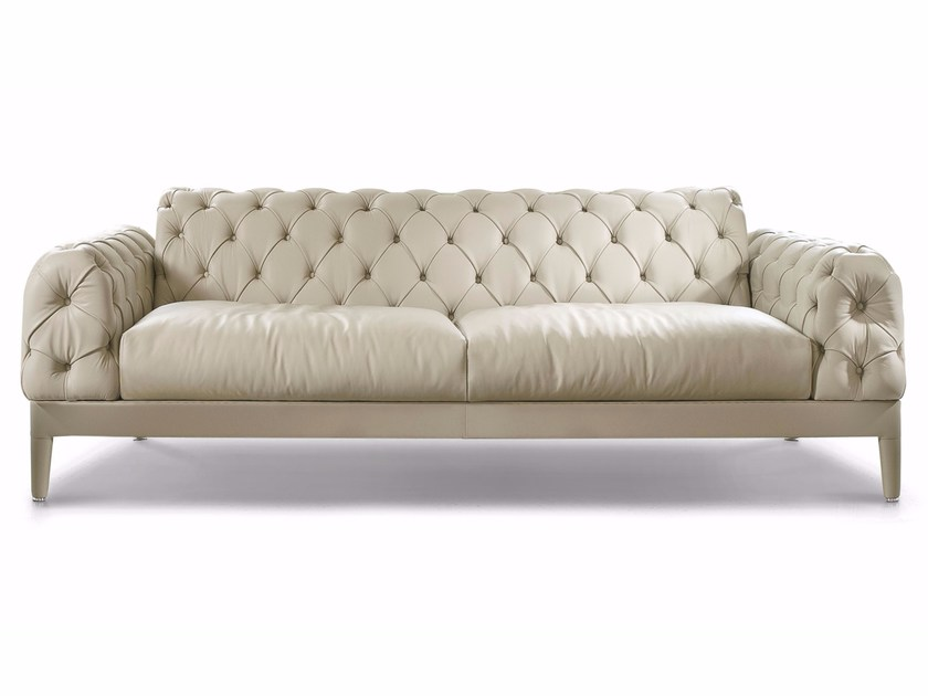 tufted leather sofa cheap isola giorno elliot collection by cts salotti design
