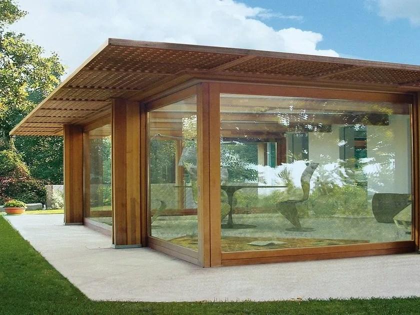 Veranda completa di struttura e copertura vetrata Pavilion vetrato  Capoferri Serramenti