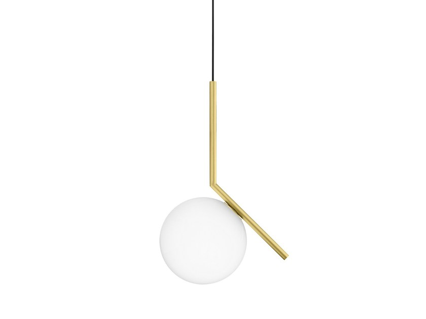 Brass pendant lamp IC LIGHTS S1 By FLOS design Michael