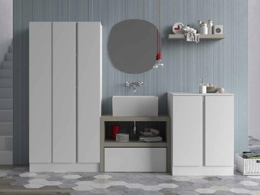 Mobile lavanderia componibile per lavatrice IDROBOX  Mobile lavanderia per lavatrice  Birex