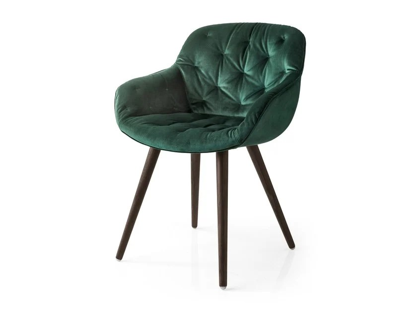 velvet chair design swivel wooden legs tufted igloo soft by calligaris edi paolo