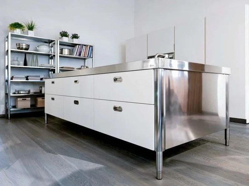 Modulo cucina in acciaio inox con cassetti ISOLA CUCINA 280 by ALPESINOX