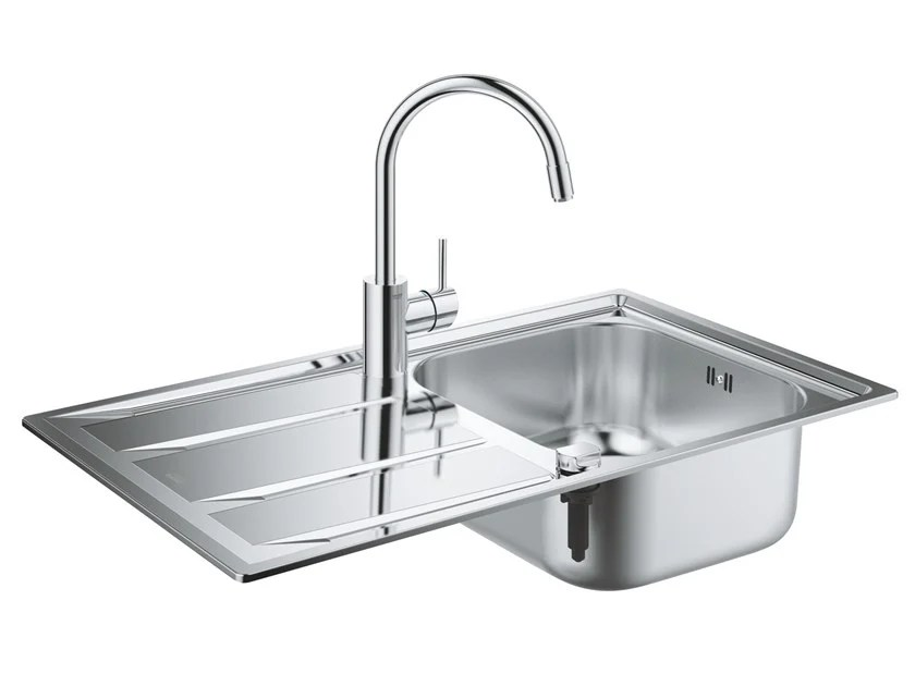 single sink kitchen furniture store k400 collection by grohe