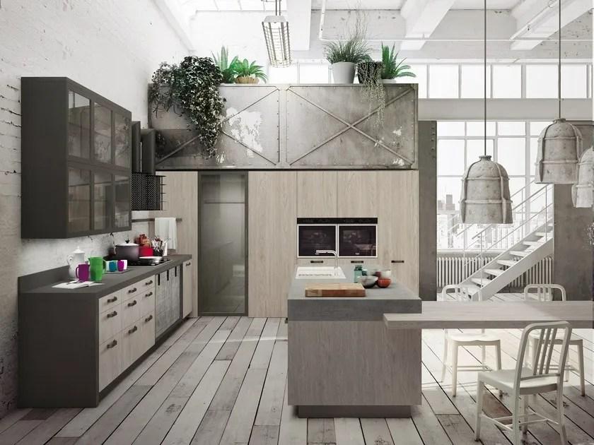 Cucina componibile con isola LOFT  Cucina con isola