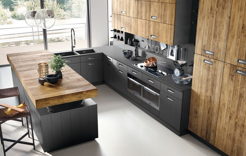 Il tuo stile e di valorizzare la qualità della tua vita in cucina. Cucina Componibile In Stile Moderno Con Isola Con Maniglie Lab 40 Composizione 3 Marchi Cucine