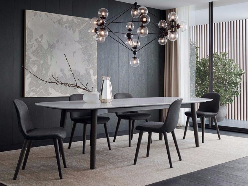 Rectangular marble table MAD DINING TABLE Mad Collection