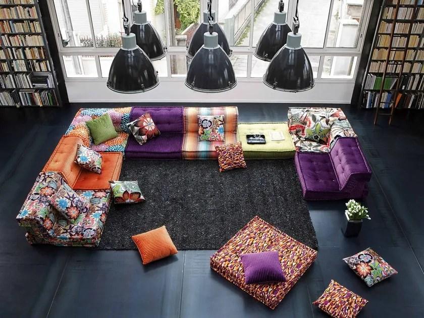 sectional fabric sofa mah jong sectional sofa by roche bobois