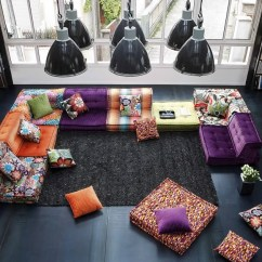 Roche Bobois Mah Jong Modular Sofa Preis Bed Black Faux Leather Sectional By Design Hans Hopfer Fabric
