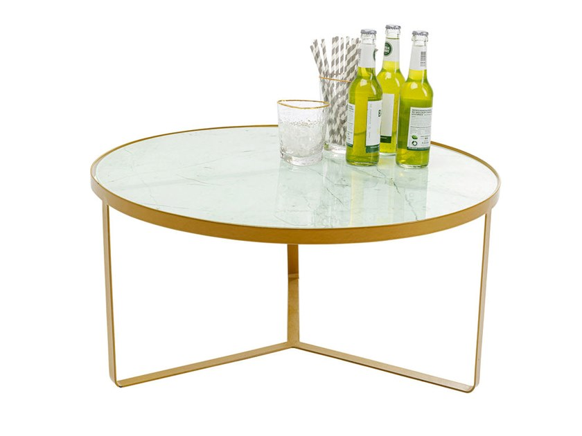 steel coffee table marble gold
