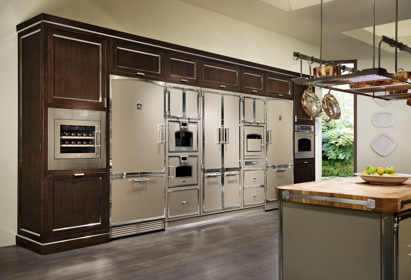 Kitchen with island AVANA PEARL By Officine Gullo