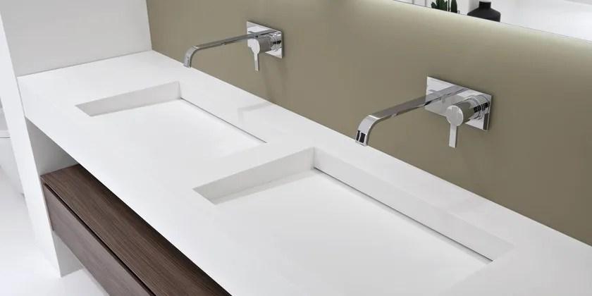 Piano lavabo in Corian SLOT  MYSLOT  Antonio Lupi Design