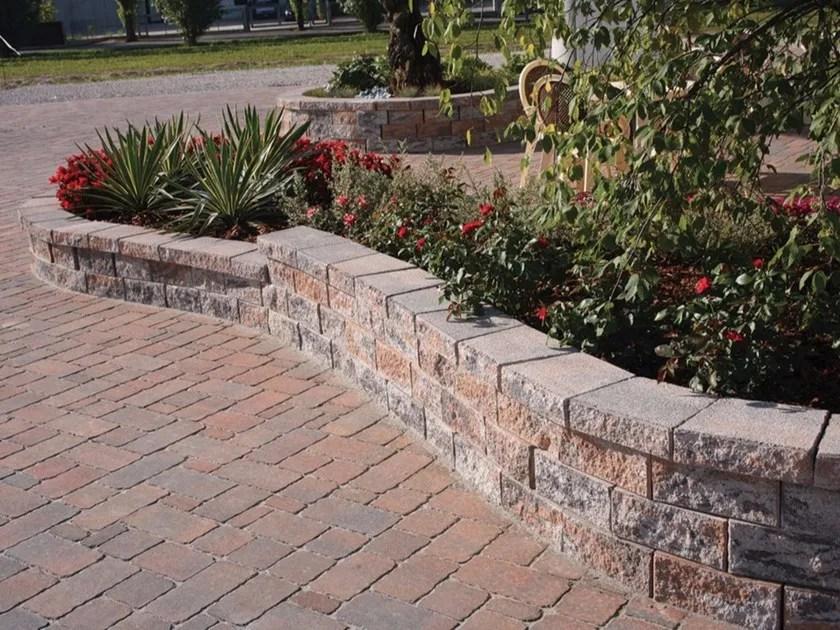 Muretto di mattoni in calcestruzzo per giardino Murago Veneto  Micheletto