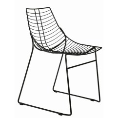 Steel Net Chair Fishing Low 096 By Metalmobil Design Francesco Geraci Sled Base Stackable