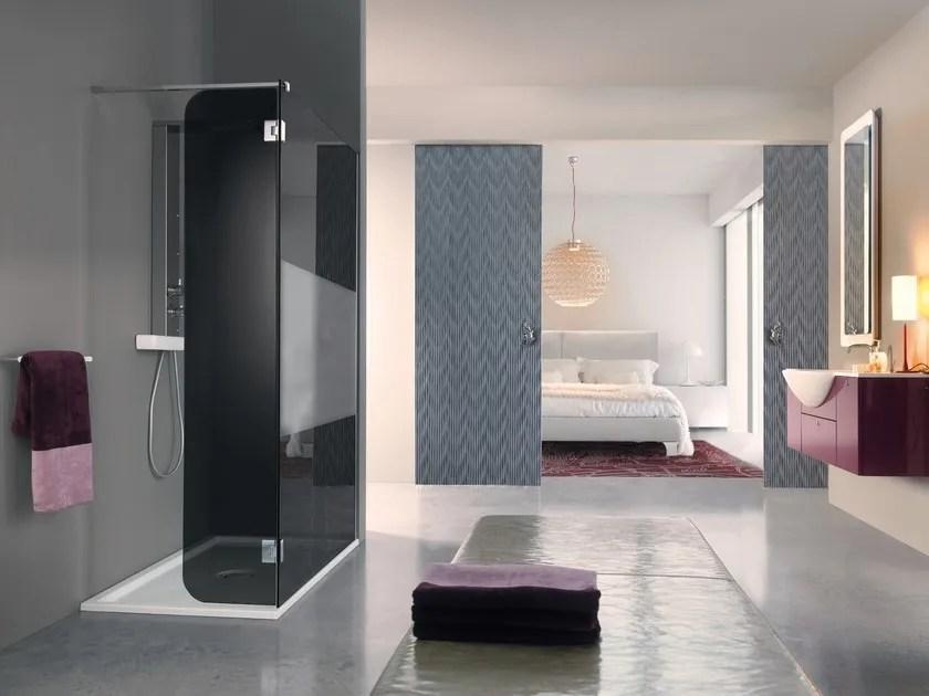 Box doccia rettangolare con piatto OPEN SIDE  Samo