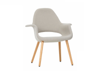 Upholstered fabric chair with armrests ORGANIC CHAIR
