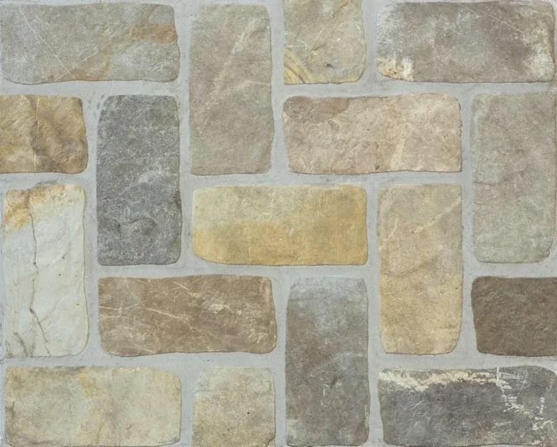 Pavimentorivestimento effetto pietra per interni ed esterni PIETRE DI FIUME  Ceramica Rondine