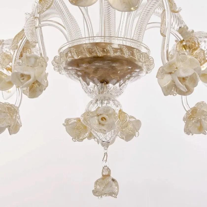 Autentico lampadario pastorale classico in vetro soffiato. Lampadario Fatta A Mano In Vetro Di Murano Roseto Sogni Di Cristallo