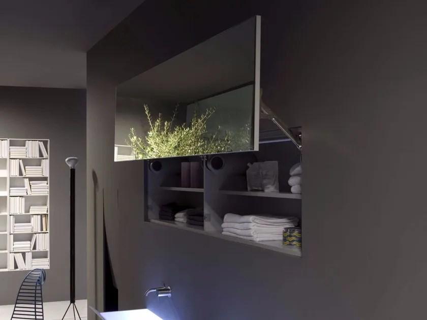 Specchio con contenitore per bagno SEGRETO  Antonio Lupi