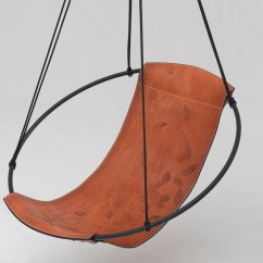 Swing Chair Metal Tv Ikea Sling Leaves By Studio Stirling Design Joanina Pastoll David 1 Seater Tanned Leather Garden Hanging