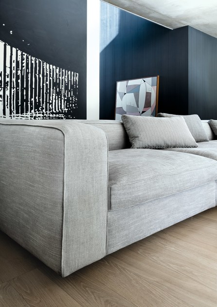 china sofa fabric rolled arm chaise convertible bed snap | sectional - domus